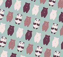 Bears Bears Bears by amisi