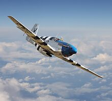 P51 Mustang - 'Symphony in Blue' by Pat Speirs