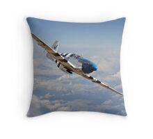 P51 Mustang - 'Symphony in Blue' Throw Pillow