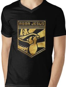 """ABBA JESUS!"" Twitch Plays Pokemon Merch! Mens V-Neck T-Shirt"