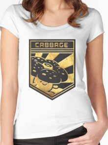 """""""CABBAGE!"""" Twitch Plays Pokemon Merchandise! Women's Fitted Scoop T-Shirt"""