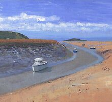 Uphill Estuary. by Antony R James