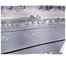 Rideau River Ice Cubes Poster