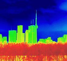 Toronto Skyline in Colors by Valentino Visentini
