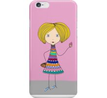 Margaret - girl with cupcake iPhone Case/Skin