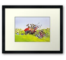 Mad dogs! Framed Print