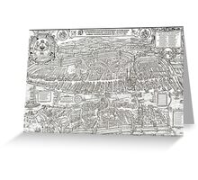 ZURICH SWITZERLAND 1576 MAP Greeting Card