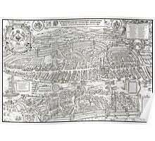 ZURICH SWITZERLAND 1576 MAP Poster