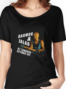 Darmok & Jalad at Tanagra ST TnG (Dark ONLY) Women's Relaxed Fit T-Shirt