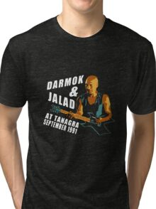 Darmok & Jalad at Tanagra ST TnG (Dark ONLY) Tri-blend T-Shirt