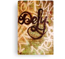 Defy- Unique Urban Art Photography Canvas Print