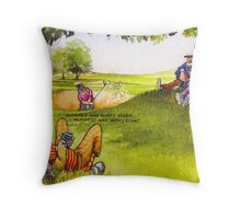 Boring match Throw Pillow
