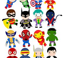 super heros by mattloucel