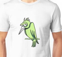 funny bird sad cool comic 3c. Unisex T-Shirt