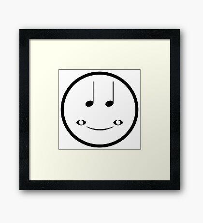 Musical Smiley Framed Print