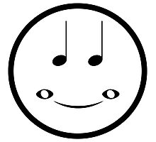 Musical Smiley Photographic Print