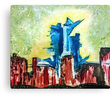 City Under Siege Canvas Print