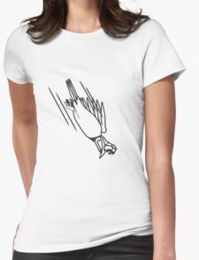 funny bird crash cool funny comic Womens Fitted T-Shirt