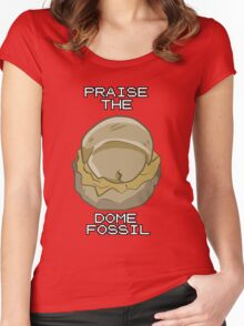 PRAISE THE DOME FOSSIL Women's Fitted Scoop T-Shirt