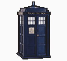 Tardis Pixel - Dr Who by 3coo