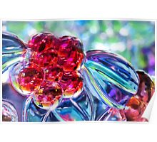 Abstract Glass Reflections Poster