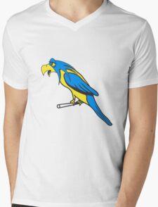 Bird funny animal cool natural comic Mens V-Neck T-Shirt