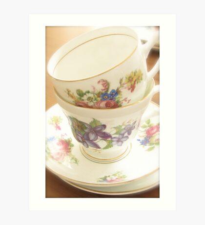 China Tea Cups Art Print
