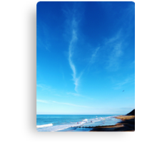 Surfers At Cromer Beach Canvas Print