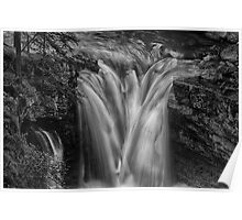 Waterfall at Johnston Canyon - Banff National Park, Alberta Poster