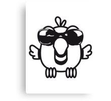 Bird funny birdie sunglasses cool comic Canvas Print