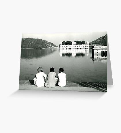 Lake near Jaipur, India Greeting Card