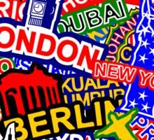 World Cities Sticker