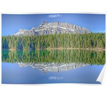 Mt. Rundle Reflection on Two Jack Lake, Banff National Park Poster