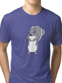 Cartoon Squirrel Tri-blend T-Shirt