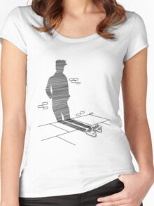 Shadow Cast Upon The Wall  Women's Fitted Scoop T-Shirt