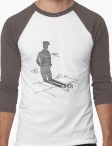 Shadow Cast Upon The Wall  Men's Baseball ¾ T-Shirt