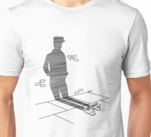 Shadow Cast Upon The Wall  Unisex T-Shirt
