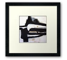 Inside the Room - New Black White Abstract Stylish Fine Art Framed Print