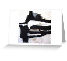 Inside the Room - New Black White Abstract Stylish Fine Art Greeting Card