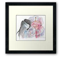 Princess Bubblegum x Marceline FIST BUMB KISS Framed Print