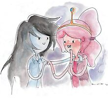 Princess Bubblegum x Marceline FIST BUMB KISS Photographic Print
