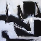 Planting Seeds - New Black White Abstract Stylish Fine Art by Julien-Charles