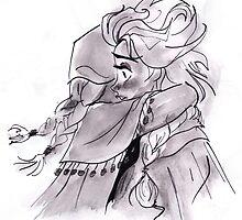 Elsa and Anna Sister Hug by kellymaryanski