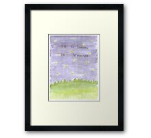 I'll Be Dancing in Starlight Framed Print