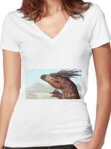 Dakotaraptor Women's Fitted V-Neck T-Shirt