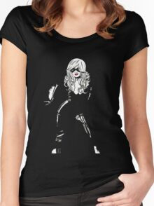 Black Cat Black Night Women's Fitted Scoop T-Shirt