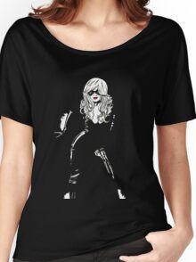 Black Cat Black Night Women's Relaxed Fit T-Shirt