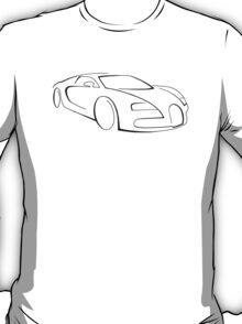Bugatti Veyron  (black graphic) T-Shirt