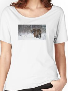 A Tiger in the Snow Women's Relaxed Fit T-Shirt
