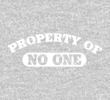 Property of no one One Piece - Short Sleeve